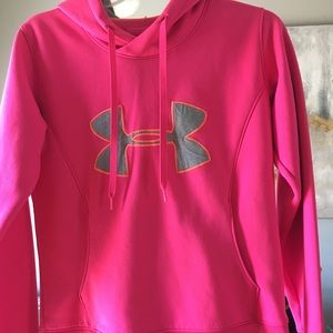Under Armour Tops - Under Armour hoodie. Semi fitted with pockets.